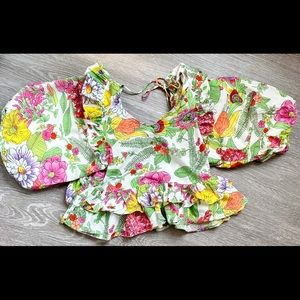 Love the Label Mitzie Floral Balloon Sleeve Blouse